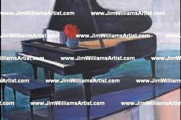Piano in Acrylic